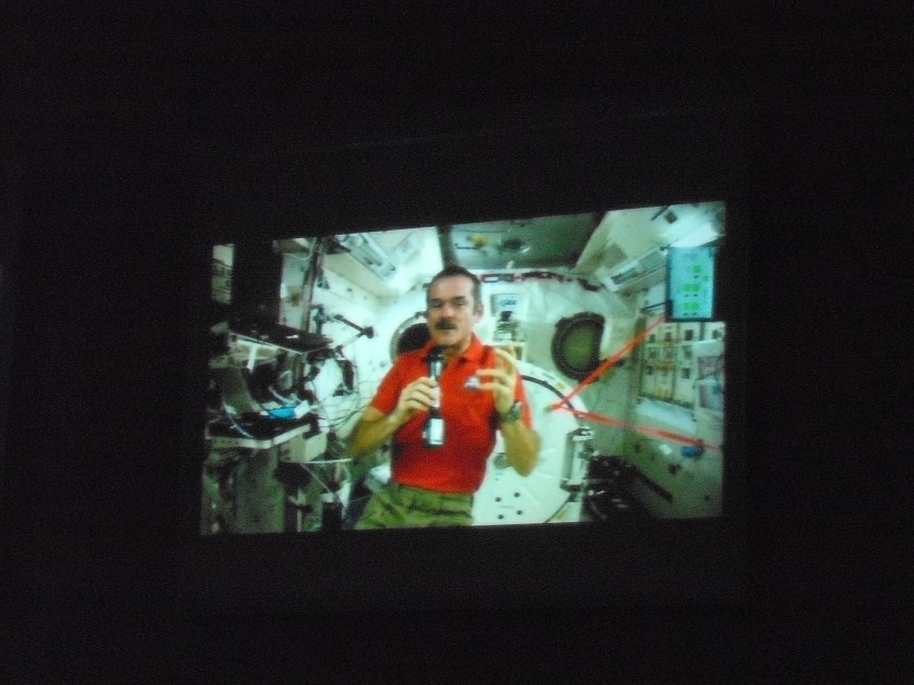 Cmdr Chris Hadfield, LIVE from the International Space Station