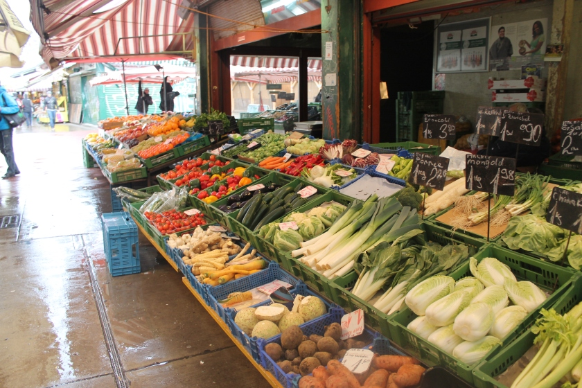 Fresh fruit and vegetables and Naschmarkt