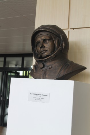 Yuri Gagarin statue in ISU main hall