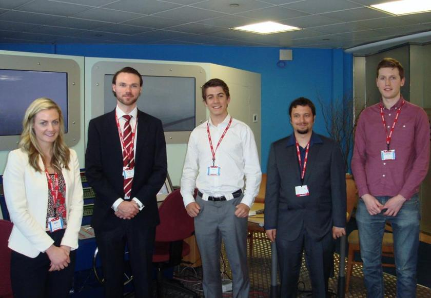 SSP13 UK Contingent — with SC O'Sullivan, Richard Passmore, Ashley Dale, Ryan Laird and Leo Teeney at Inmarsat Credit: Richard Passmore