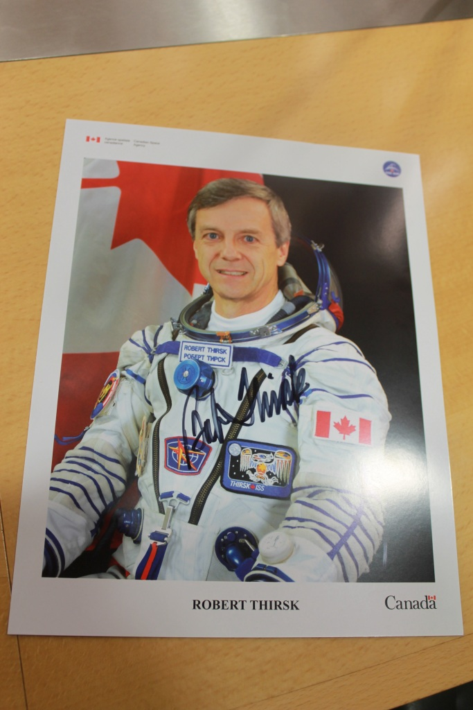 Bob Thirsk, former Canadian Astronaut signed photograph