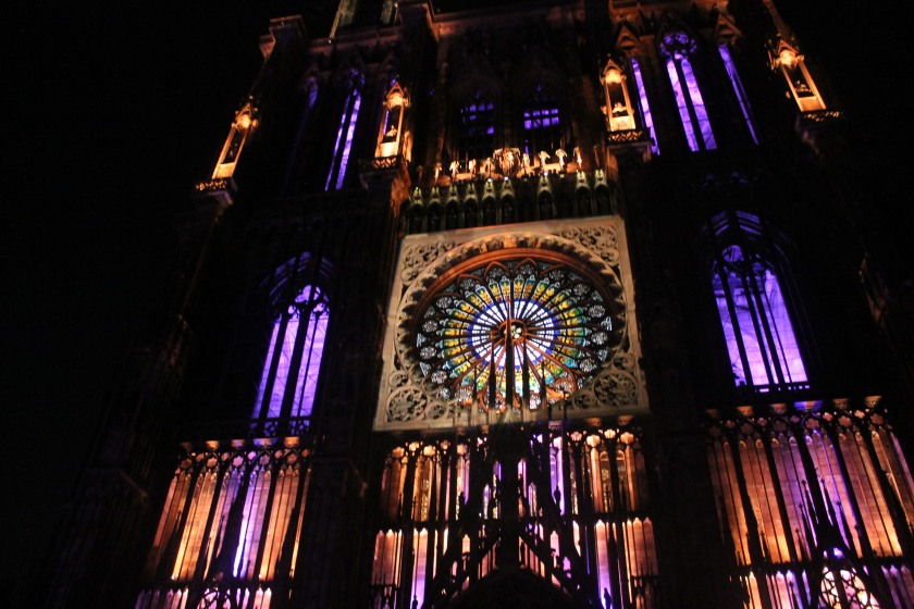 Illumination of Strasbourg Cathedral