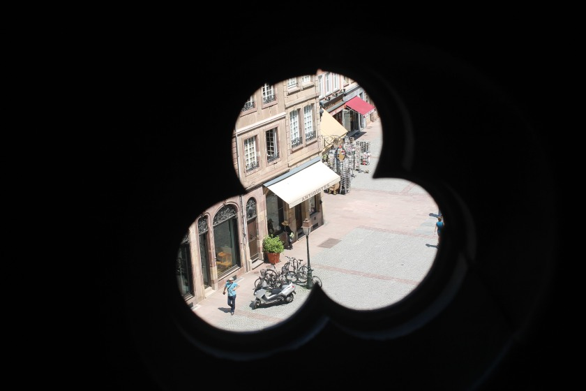 "Peering through the cathedral - one ""antique"" to a nearby antique shop. Credit: Ryan J.M. Laird. All Rights Reserved."