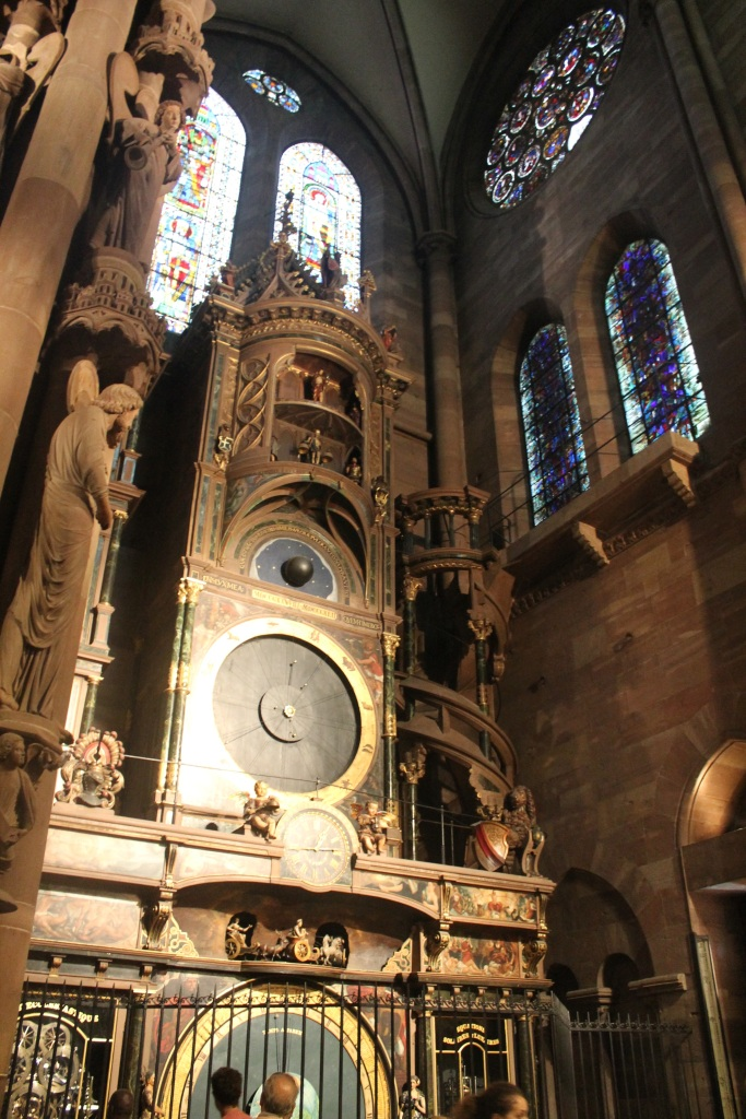 Astronomical clock inside Strasbourg cathedral.