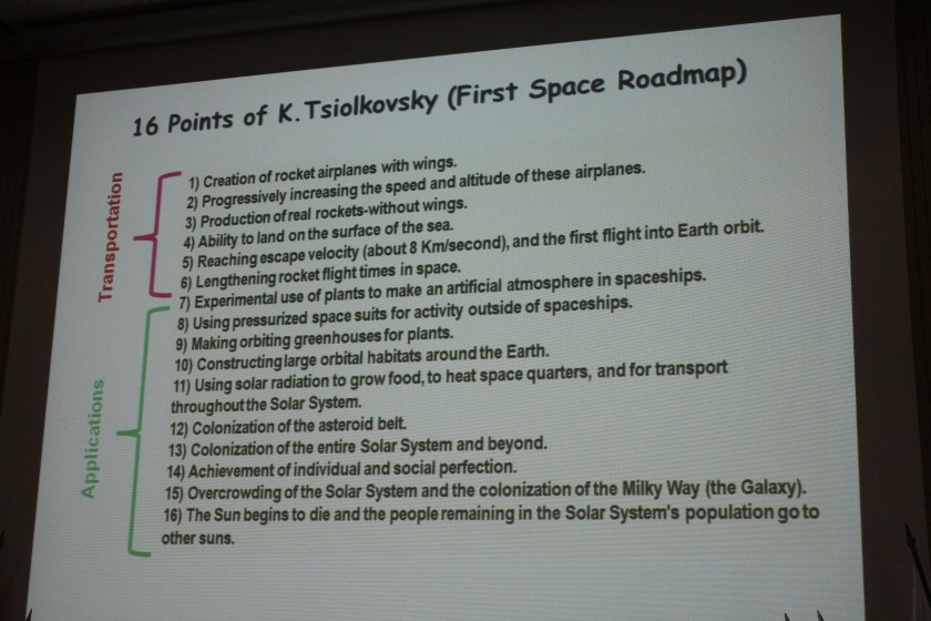"The first ""space roadmap"" by Tsiolkovsky"