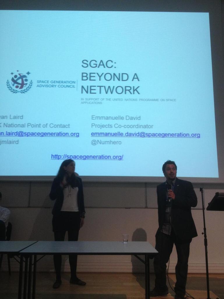 Presenting SGAC with Emmanuelle David (France). Credit: Remco Timmermans @timmermansr