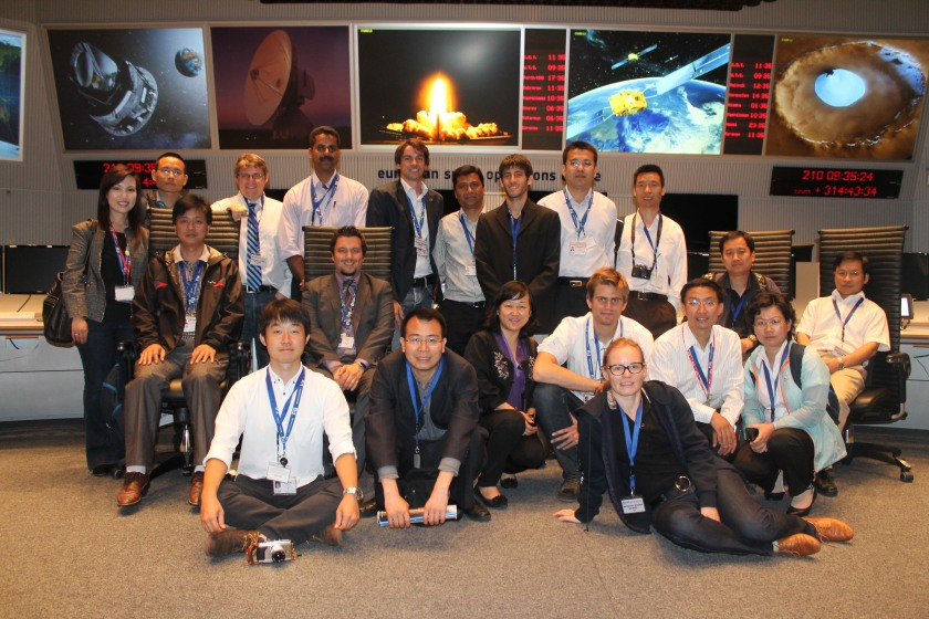 ISU Space Applications Department in ESOC Mission Control