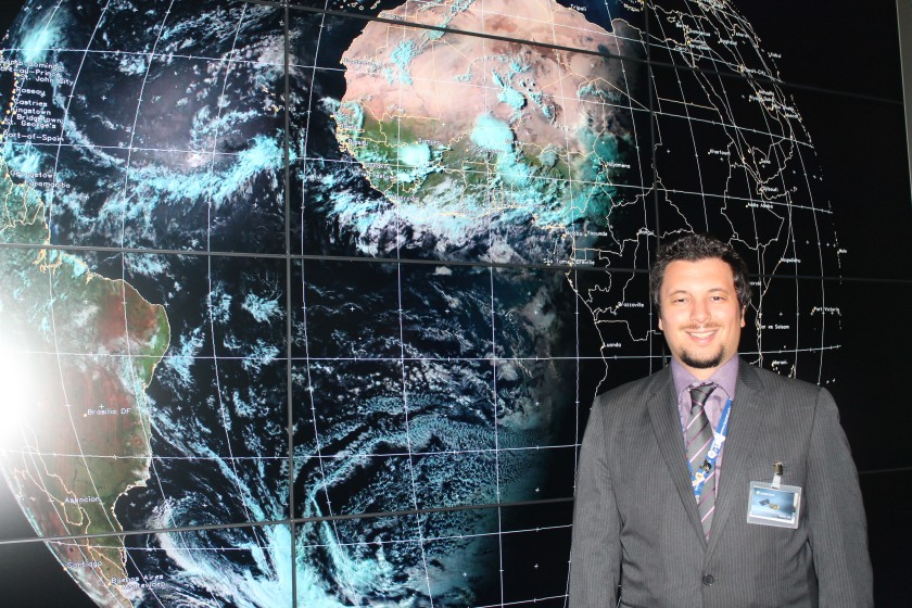Me forecasting the weather at EUMETSAT