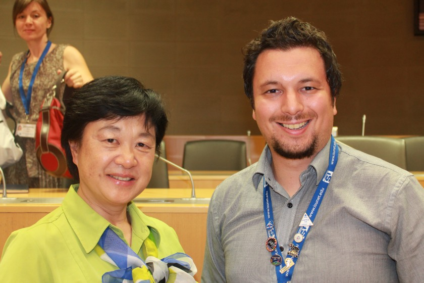 Me with first Japanese female astronaut