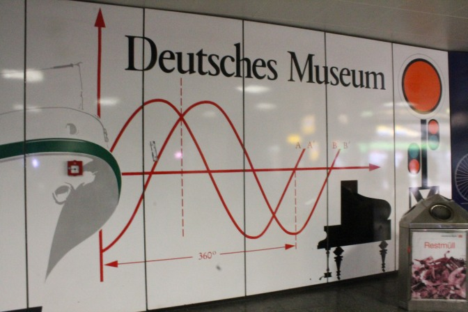 Deutsches Museum sign at Isartor Ubahn station.
