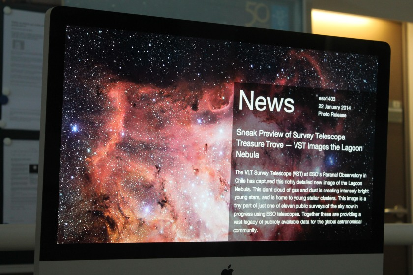 News board at ESO