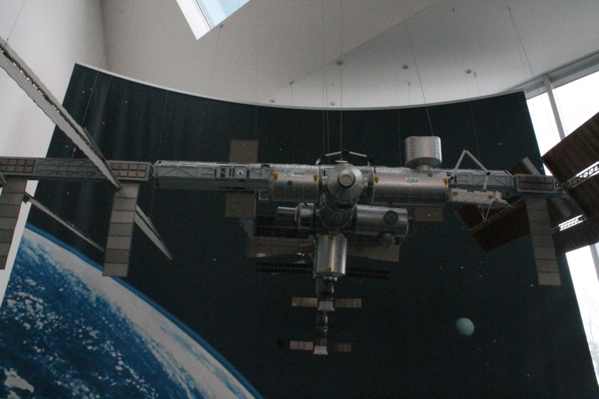 A model of the International Space Station at the German Space Operations Centre.