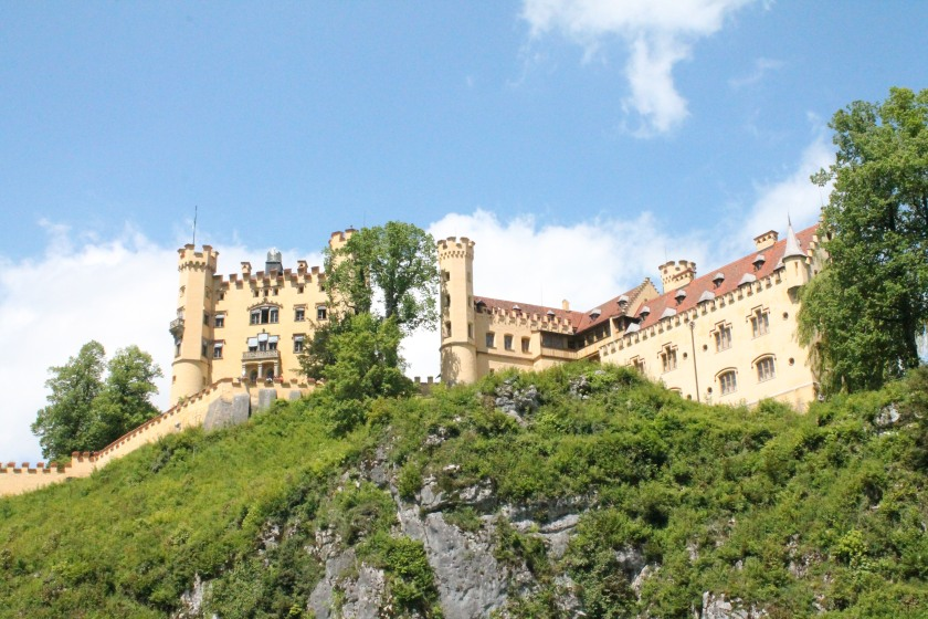 Hohenschwangau Castle (High Swan County Palace),  the childhood residence of King Ludwig II of Bavaria. Credit: Ryan J. M. Laird