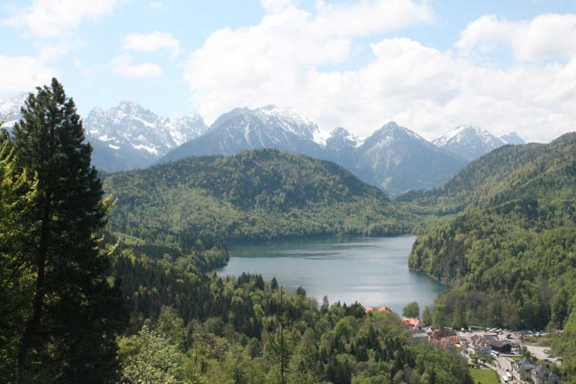 View of the Alps from Neuschwanstein castle. Credit: Ryan J. M. Laird